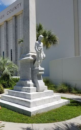Confederate Memorial in front of Hillsborough County Florida courthouse