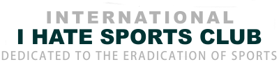 International I Hate Sports Club Logo